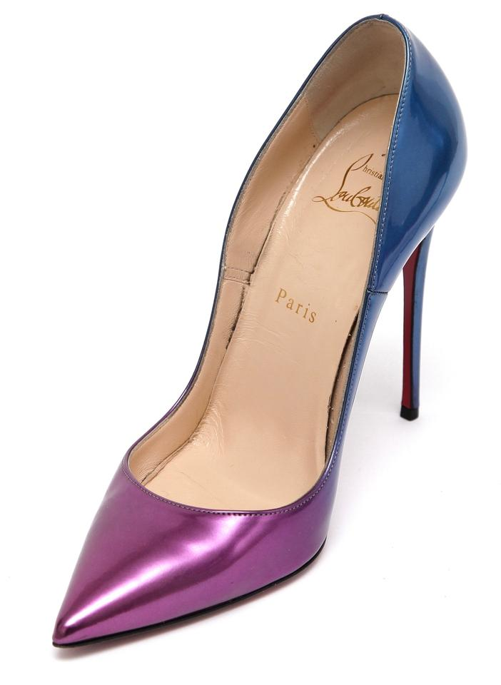 pretty nice d1d13 ad729 Christian Louboutin Blue Ombre So Kate 120 Patent Leather Pumps Size EU 38  (Approx. US 8) Regular (M, B) 50% off retail