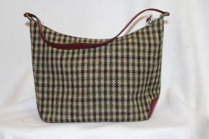 Kate Spade Vintage Rare Satchel in Red, Brown, Tan Plaid