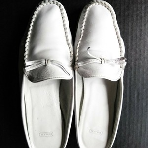 Coach Leather Calfskin Buttery Optic White Flats