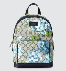Gucci Beige/Blue Gg Coated Canvas 427042 8493 Backpack