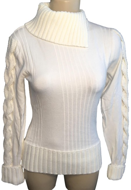 Item - Split Neck Turtleneck Ivory Sweater