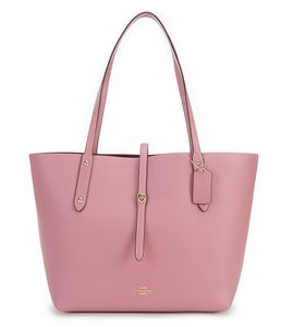 Coach Market Pebbled Leather Rose Tote in Pink