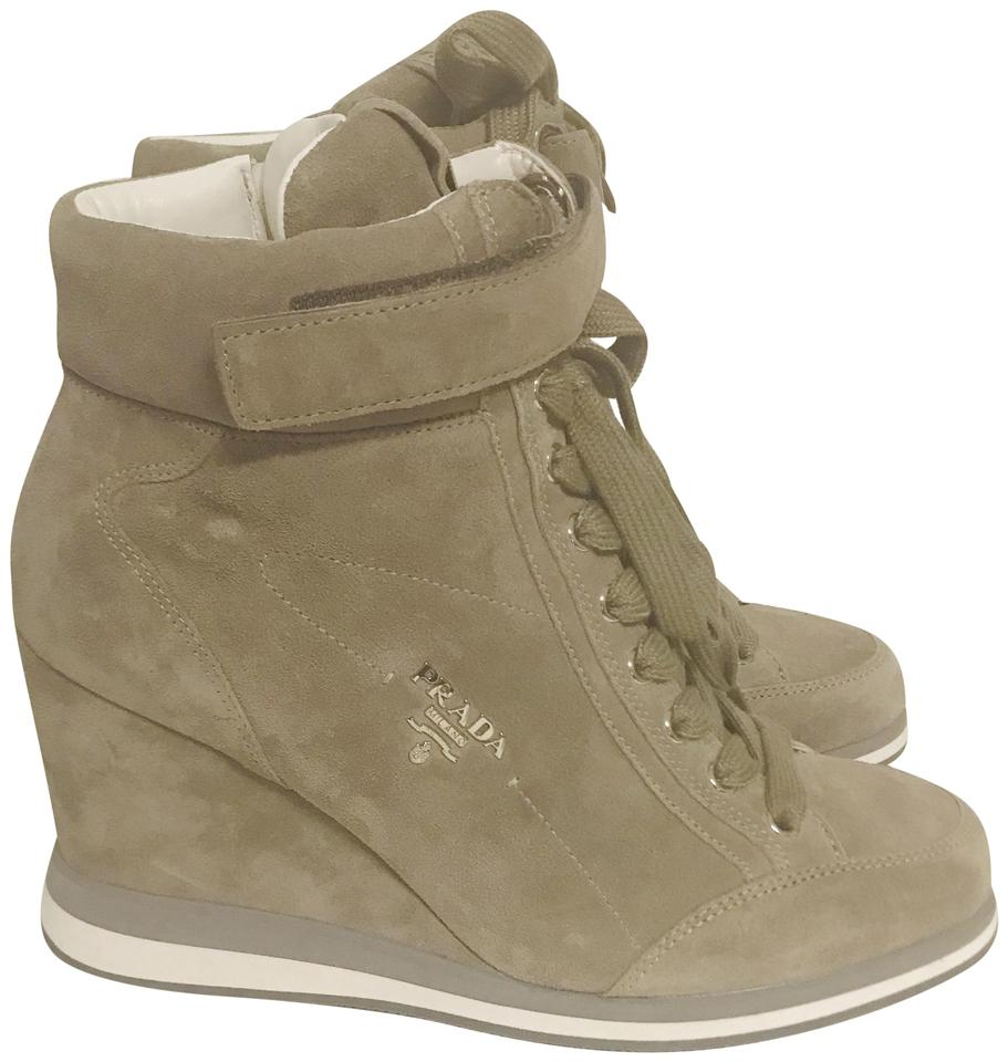 8f06b668a39d Prada Grey Ankle Boots Wedges Size EU 37.5 (Approx. US 7.5) Regular ...