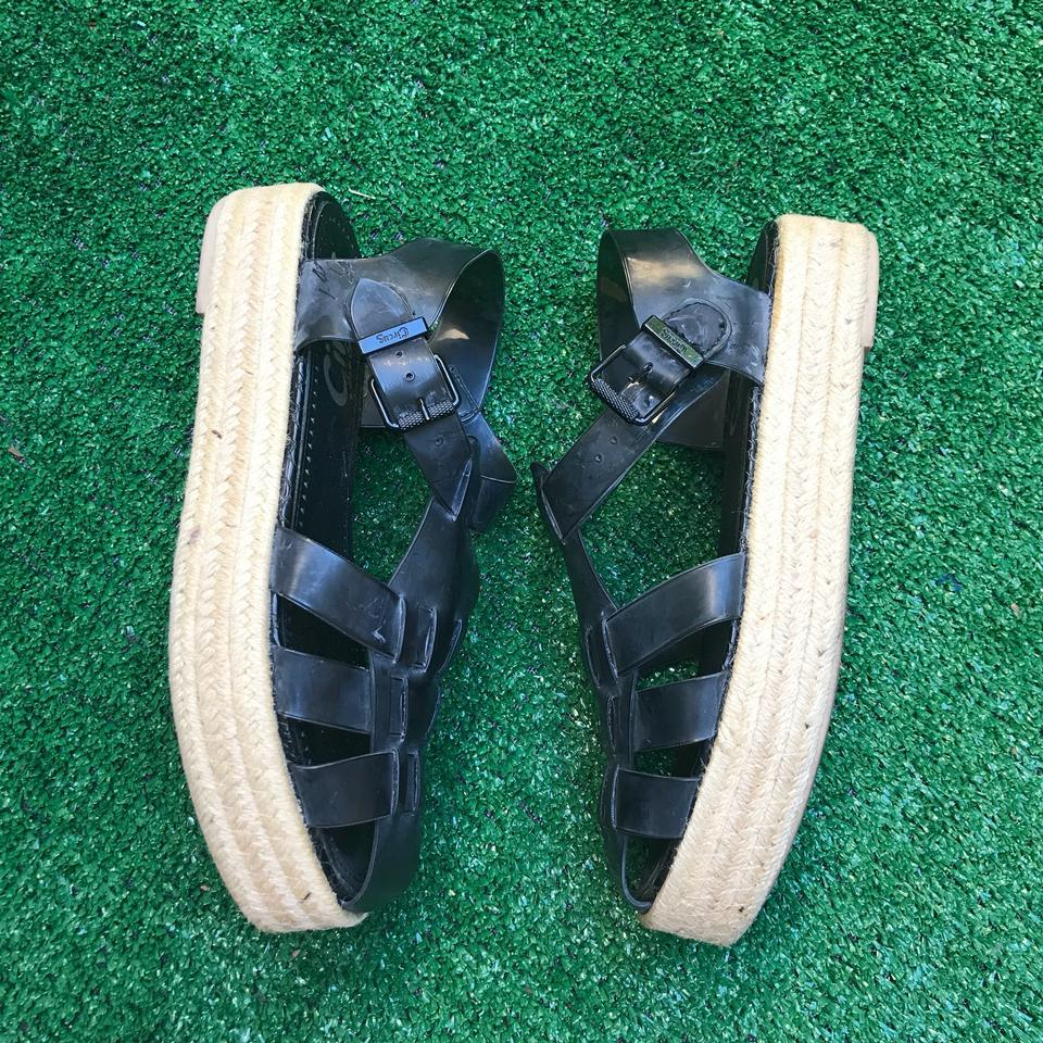 4d2b4bb40925 Circus by Sam Edelman Black Gotham Jelly Espadrilles Platforms ...