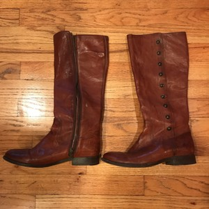 Frye Leather Button brown Boots