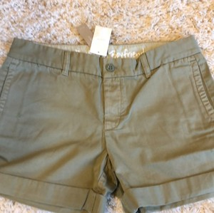 J.Crew Cuffed Shorts utility green