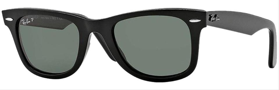 8759c6c5cbd Ray-Ban Wayfarer Ease Black Frame   Green Classic G-15 Polarized Lens Rb4340  601 58 Square Style Unisex Sunglasses