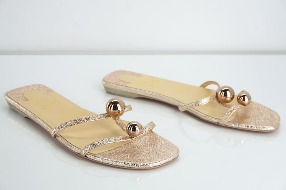 c30bc9061a54 Christian Louboutin Mule Crackled Balls Gold Sandals Image 11.  123456789101112