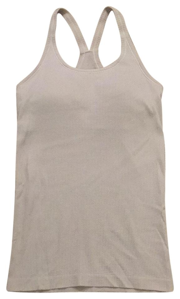 d6a4e24ccebe1 Lululemon White Ebb To Street Tank Activewear Top Size 6 (S) - Tradesy