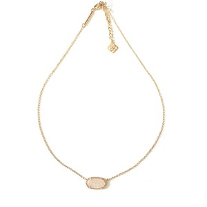 Kendra Scott Brand New Kendra Scott Elisa Necklace in 14k Gold Iridescent Drusy