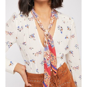 Free People Top Ivory Combo