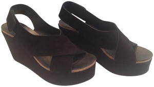 Pedro Garcia Suede Black Wedges