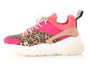 Stella McCartney Sneakers Eclipse Sm.p0917.16 Animal Print Trainers Pink Athletic