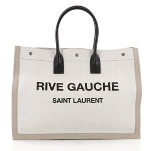 Saint Laurent Canvas Tote in light taupe