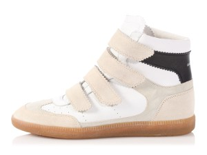 Isabel Marant Im.p0917.15 Silver Leather Beige Velcro White Athletic