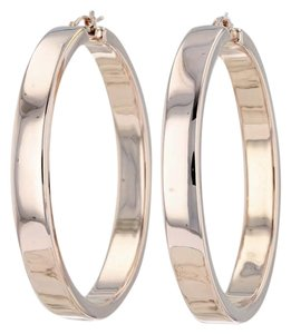Milor Statement Hoop Earrings 14k Pierced Large Italian