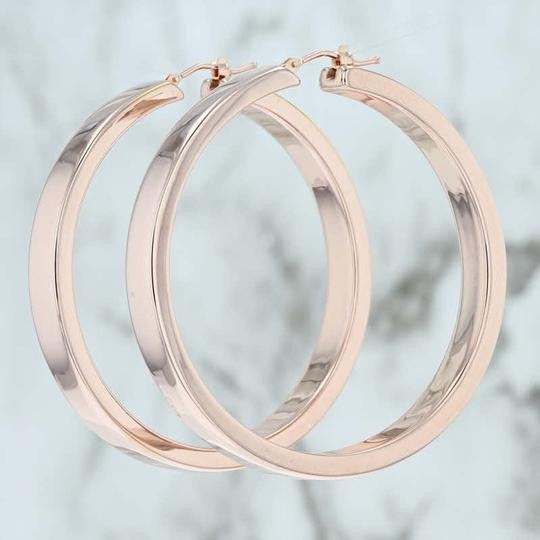 Milor Statement Hoop Earrings 14k Pierced Large Italian Image 1