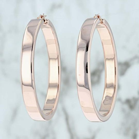 Milor Statement Hoop Earrings 14k Pierced Large Italian Image 2