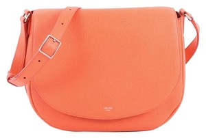 Céline Leather coral Messenger Bag