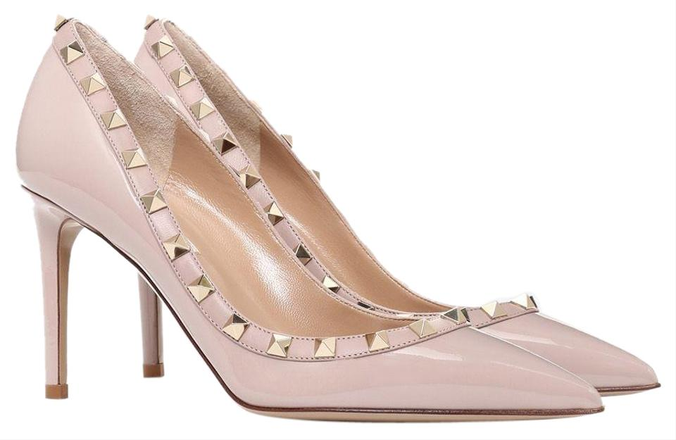 special selection of super cute uk store Valentino Nude Classic Rockstud Court Patent Leather 85mm Embellished  Point-toe Pumps Size EU 39 (Approx. US 9) Regular (M, B)