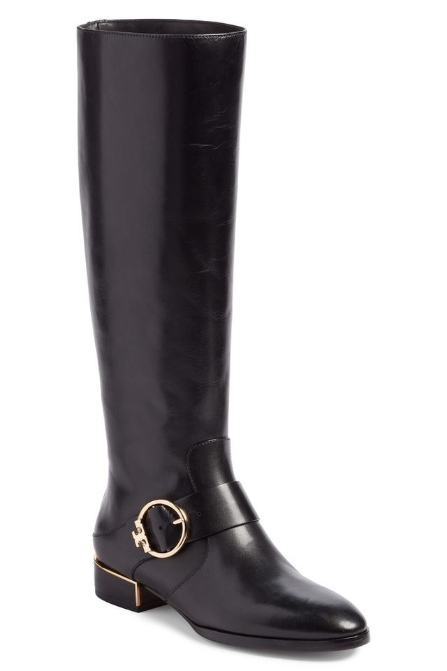 2346128f1b78 Tory Burch Black Sofia Buckled Riding Boots Booties Size US 8 ...
