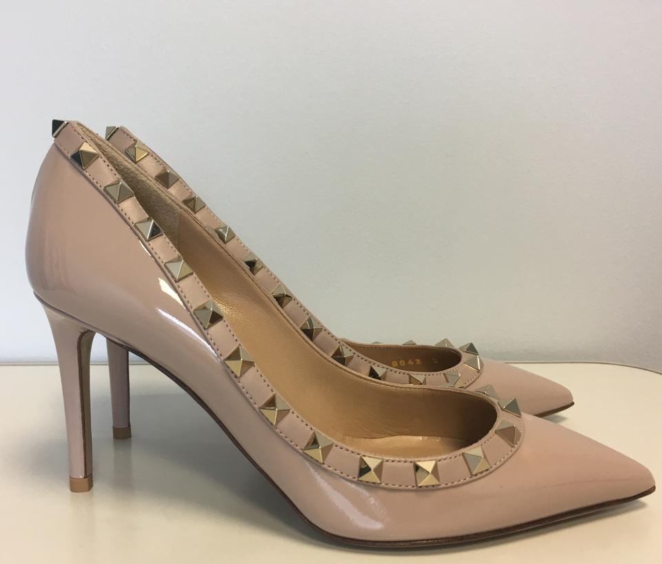 b4dbbb97d140 Valentino Nude Classic Rockstud Court Patent Leather 85mm Embellished Point-toe  Pumps Size EU 38 (Approx. US 8) Regular (M