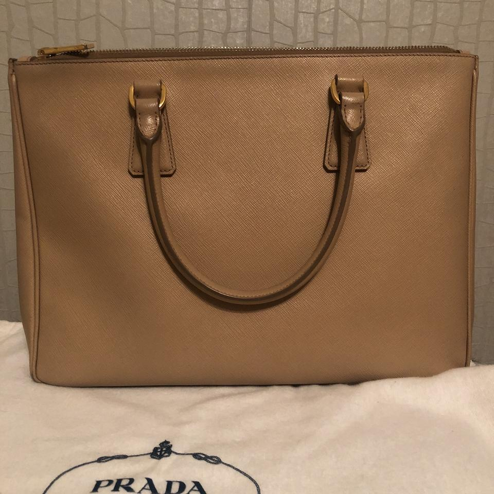 Prada Galleria Medium Saffiano Beige Leather Tote - Tradesy 30c4bfac6edc1