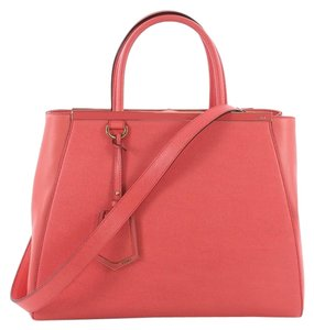 Fendi Leather Tote in pink