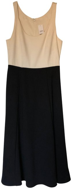 Gap Ivory and Black Mid-length Casual Maxi Dress Size 2 (XS) Gap Ivory and Black Mid-length Casual Maxi Dress Size 2 (XS) Image 1