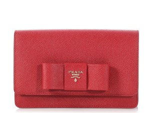 Prada Pr.p1016.17 Woc Saffiano Lux Bow Reduced Price Cross Body Bag