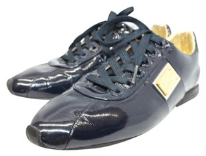 Dolce&Gabbana Dolce & Gabbana Patent Leather Sneakers NAVY BLUE Flats