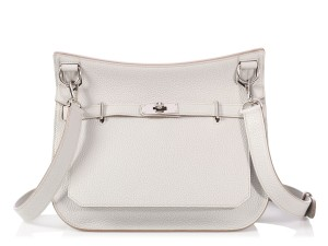 Hermès Hr.p1016.06 Palladium Pearl Clemence Cross Body Bag