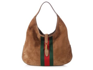 f587a010fed Gucci Gc.p1010.07 Suede Striped Reduced Price Hobo Bag · Gucci. Jackie  Large Web Soft Brown Suede Leather ...