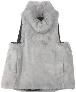 Marissa Webb Faux Fur Leather Detail New With Tags Vest