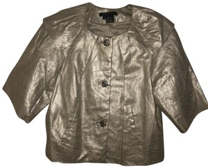Etcetera Button Down Shirt Gold Metallic