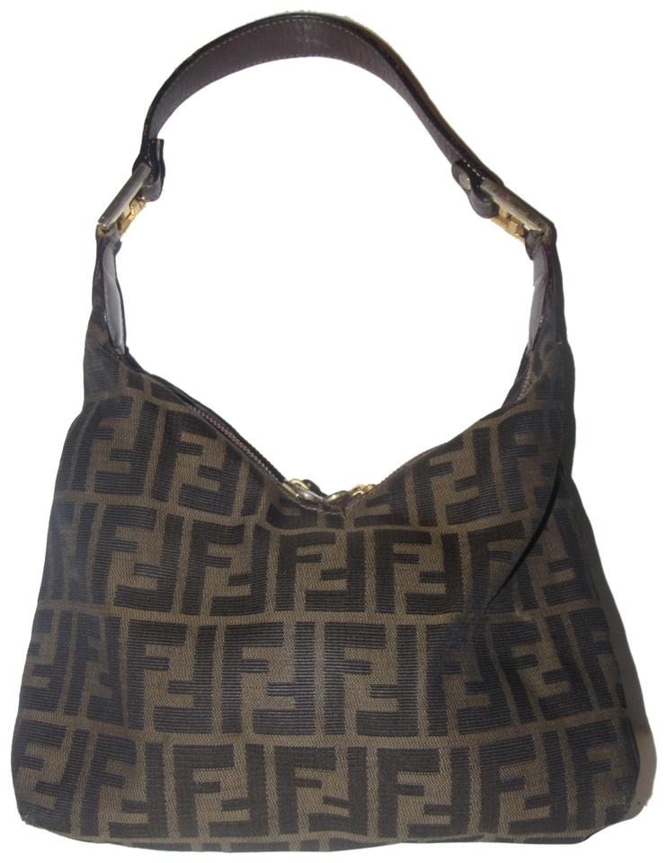9f2f46e89a7e Fendi Mint Condition High End Bohemian Rare V Shape Unique Style Hobo Bag  Image 0 ...