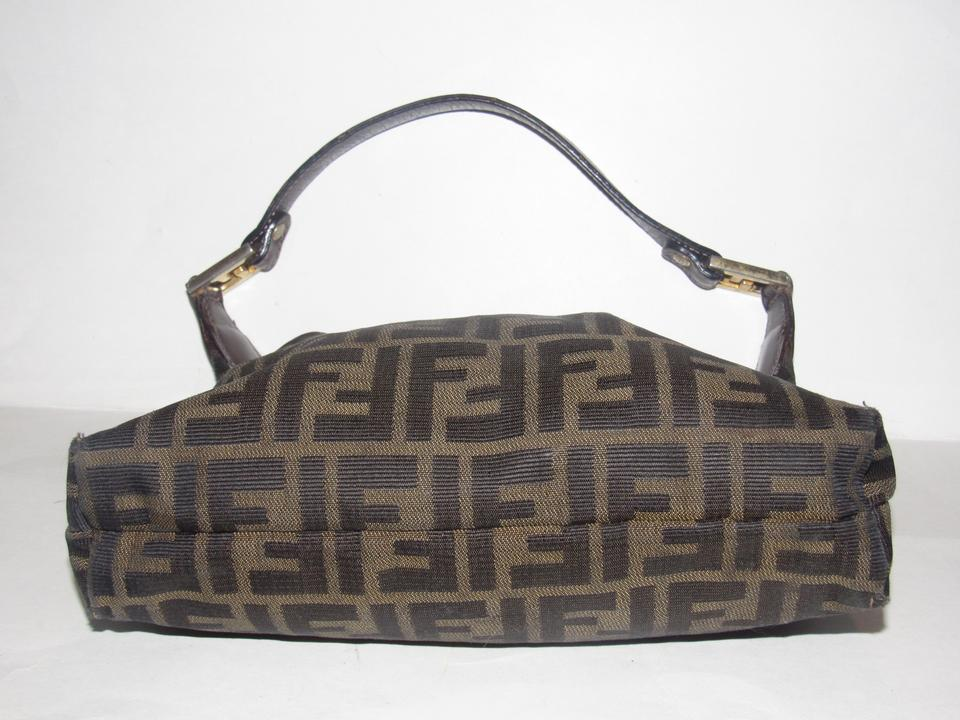 3be80f2ac92c Fendi Purses Designer Purses Dark Brown Large F Logo Print Canvas ...