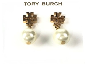 Tory Burch TORY BURCH Logo Pearl Drop Earrings