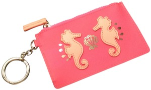Lilly Pulitzer Tiki Pink Seahorse Appliqué Jelly Coin Purse
