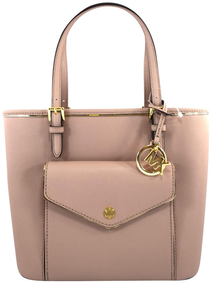 c7c42598859a Michael Kors Saffiano Frame Pink Fawn Leather Satchel - Tradesy