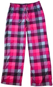 Xhilaration Fleece Checkered Sleep Lounge Relaxed Pants Pink multi