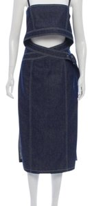 Edun short dress blue on Tradesy