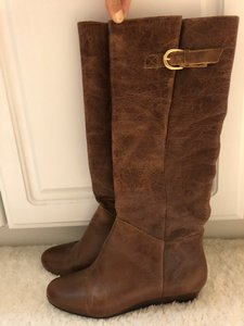 Steve Madden Leather Cognac Boots
