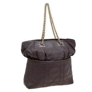 Dior Granville Slouchy Golden Chain Tote in Brown