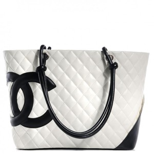 Chanel Calfskin Cambon Tote in White