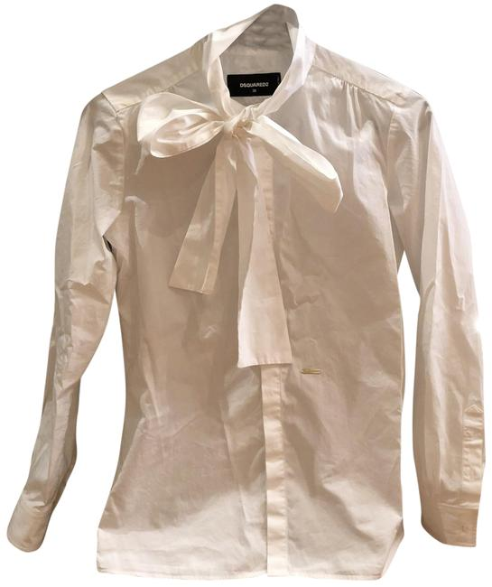Preload https://img-static.tradesy.com/item/24310449/dsquared2-white-button-up-shirt-button-down-top-size-2-xs-0-3-650-650.jpg