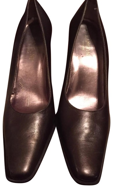 Item - Brown Leather Square - 8.5aa Pumps Size US 8.5 Narrow (Aa, N)