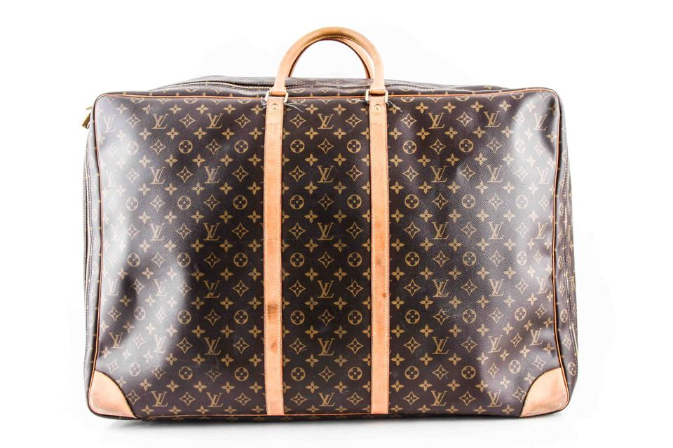 Louis Vuitton Sirius Monogram 70 Soft Sided Suitcase Brown Coated ... ca644c5379