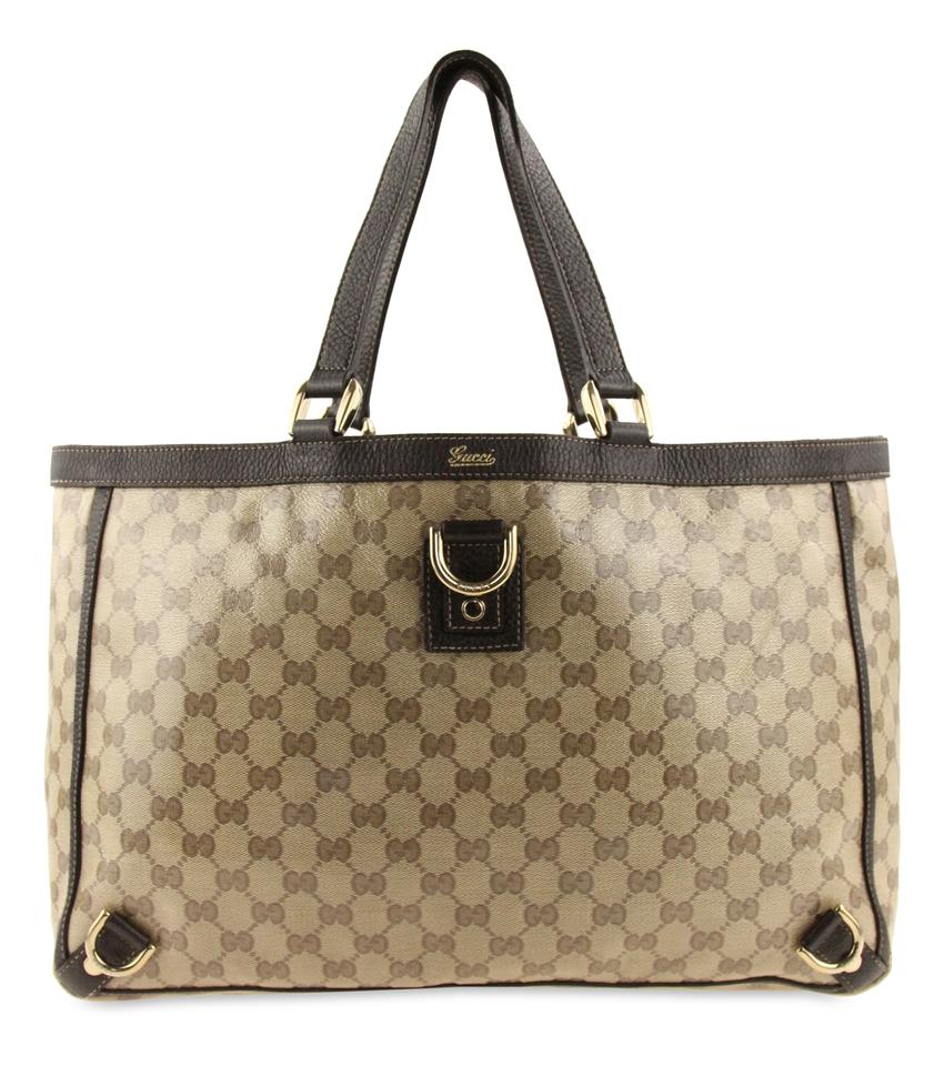 231b1c1dac0b Gucci Beige Gg Canvas Large Abbey Tote in Brown Image 0 ...
