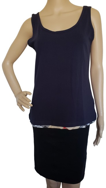 Item - Blue Navy Nova Check Sleeveless Blouse Size 8 (M)